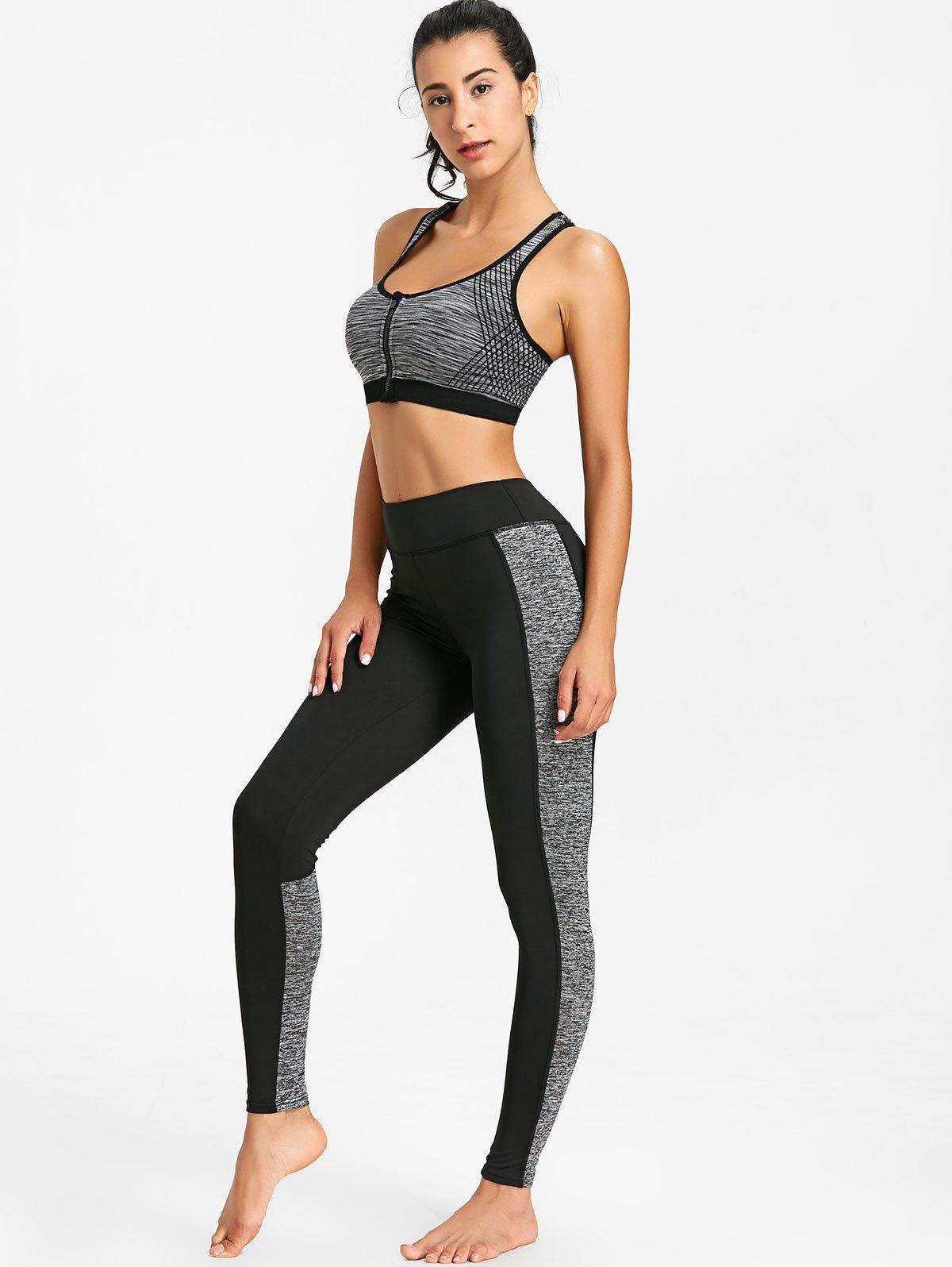 Sports High Rise Leggings Deux tons - gris M