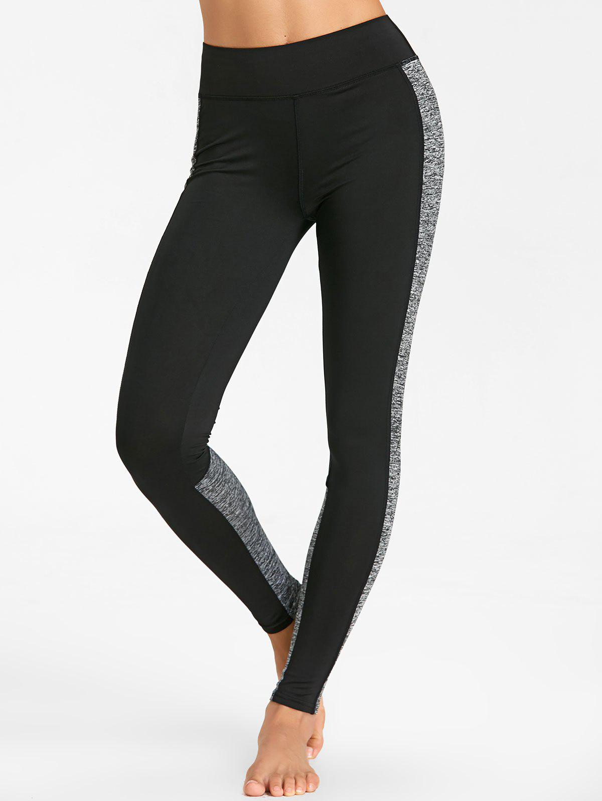 Sports High Rise Leggings Deux tons - gris L