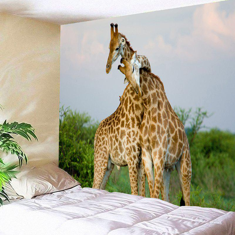 Wall Hanging Giraffe Couple Pattern Tapestry fashion giraffe height measurement pattern removeable wall stickers for children
