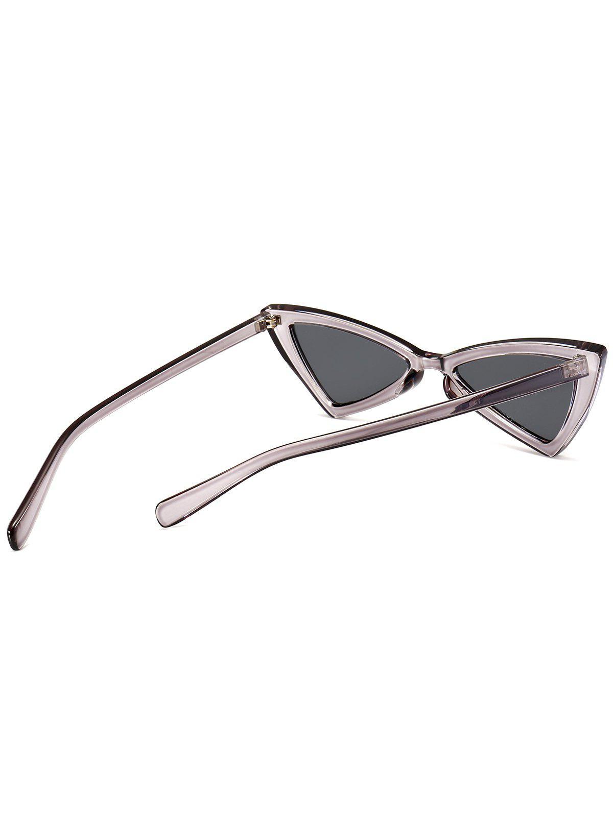 Irregular Butterfly Full Frame Embellished Sunglasses - TRANSPARENT GRAY