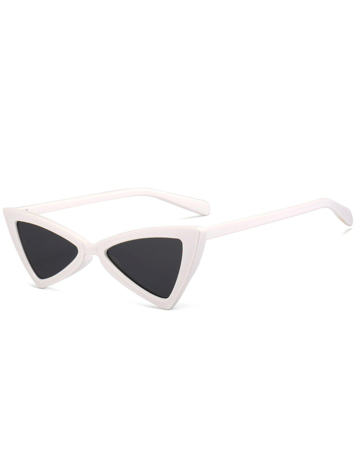 Irregular Butterfly Full Frame Embellished Sunglasses - WHITE