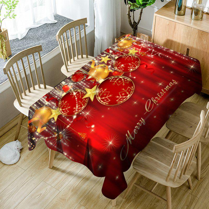 Christmas Ornaments Pattern Waterproof Table Cloth - RED W54 INCH * L54 INCH