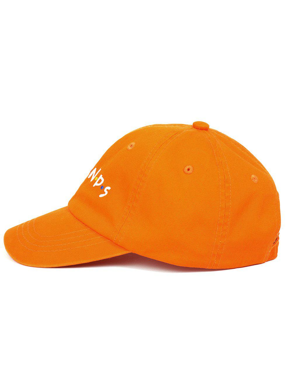 Outdoor FRIENDS Pattern Embroidery Graphic Hat - ORANGE
