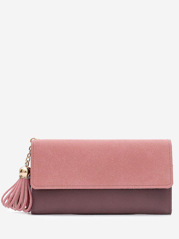 Gland Pendentif Long Frosted Wallet - ROSE PÂLE