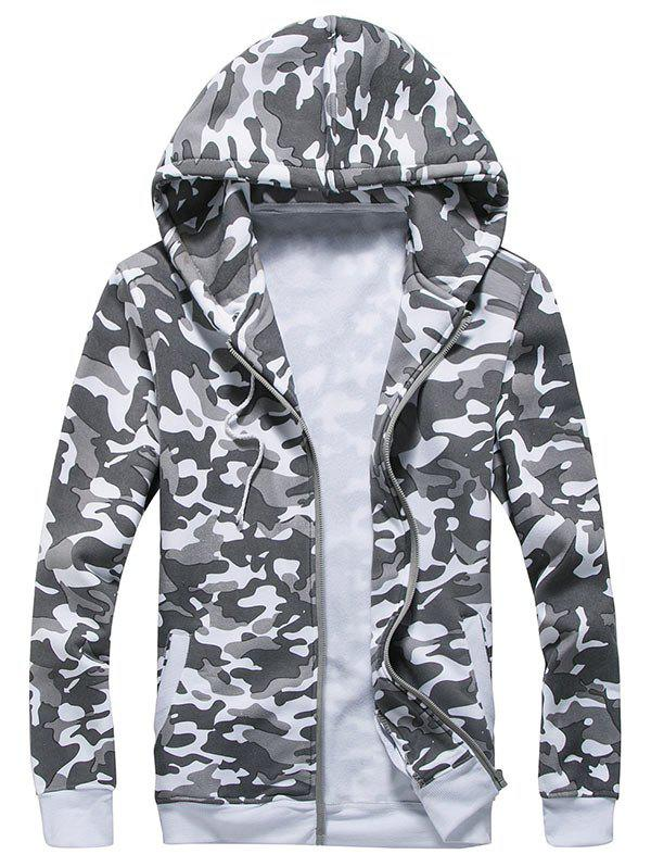 Ribbed Zipper Up Camouflage Hoodie zip up camouflage panel hoodie and sweatpants