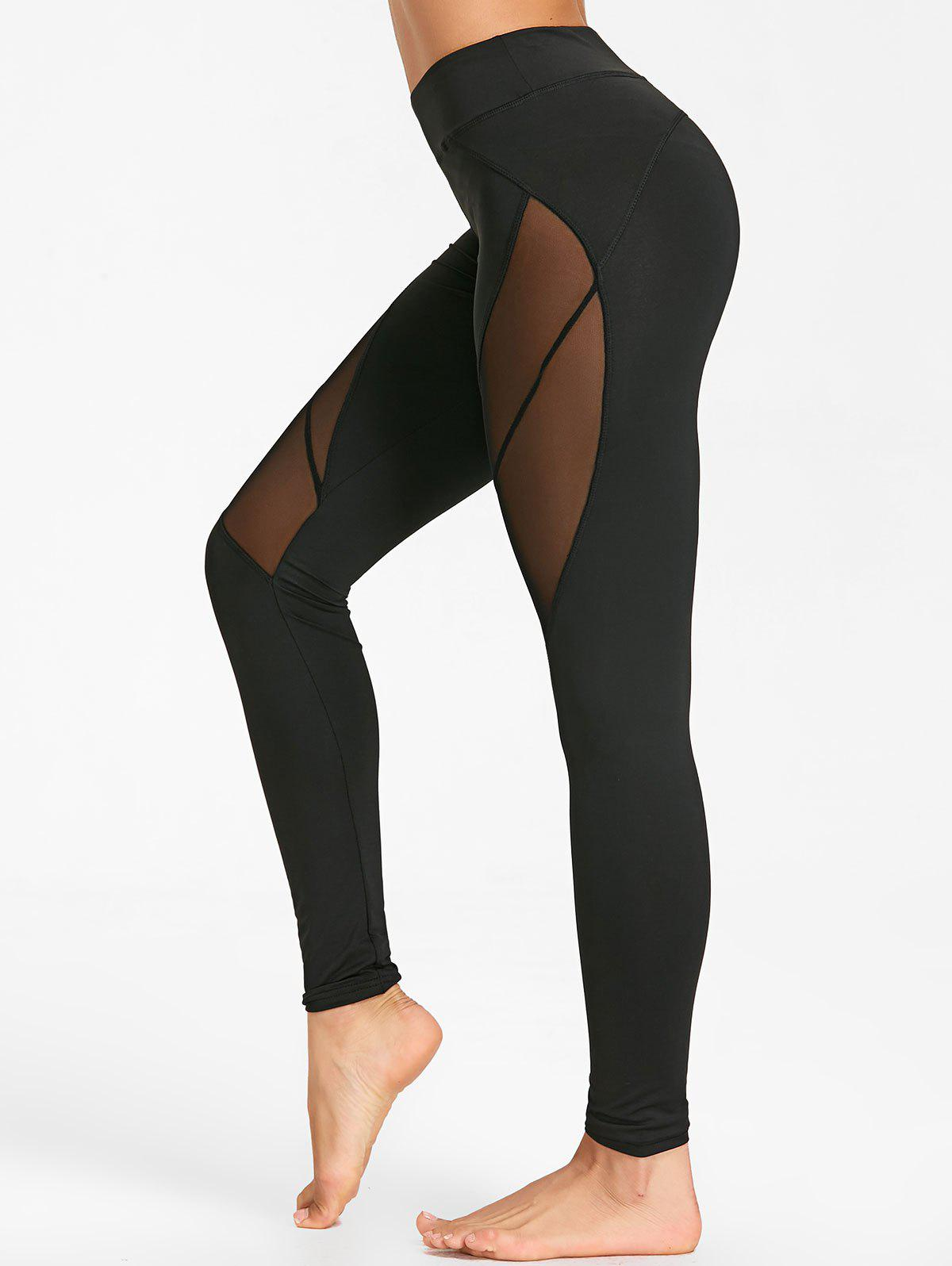 Voir Collants de yoga en maille - Noir M