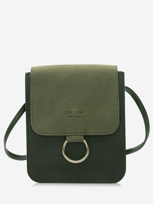 Small Metal Hoop Crossbody Bag - GREEN