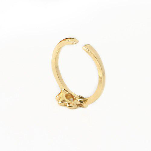 Puppy Paw Embellished Finger Ring - GOLDEN ONE-SIZE