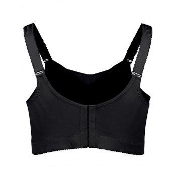 Plus Size Full Cup Wirefree Padded Bra - BLACK BLACK