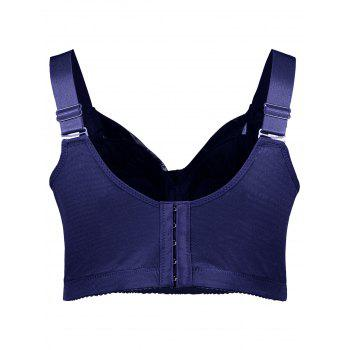 Unlined Wirefree Full Cup Plus Size Bra - DEEP BLUE 2XL