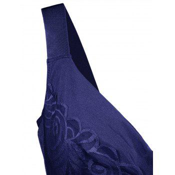 Unlined Wirefree Full Cup Plus Size Bra - DEEP BLUE 5XL