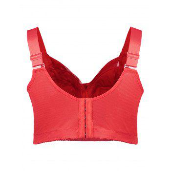 Unlined Wirefree Full Cup Plus Size Bra - RED 7XL