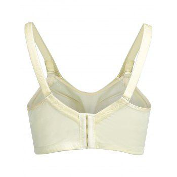 Plus Size Contrast Lace Panel Bra - LIGHT YELLOW LIGHT YELLOW