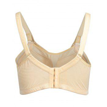 Plus Size Contrast Lace Panel Bra - PINK PINK