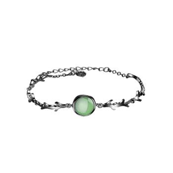 Artificial Emerald Chain Bracelet - GREEN