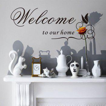 Welcome to Our Home Wall Sticker - BLACK