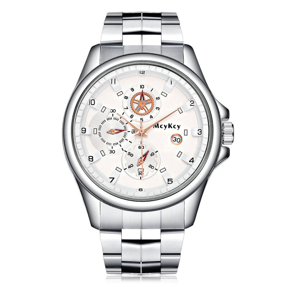 Alloy Strap Date Quartz Watch steel strap number quartz date watch