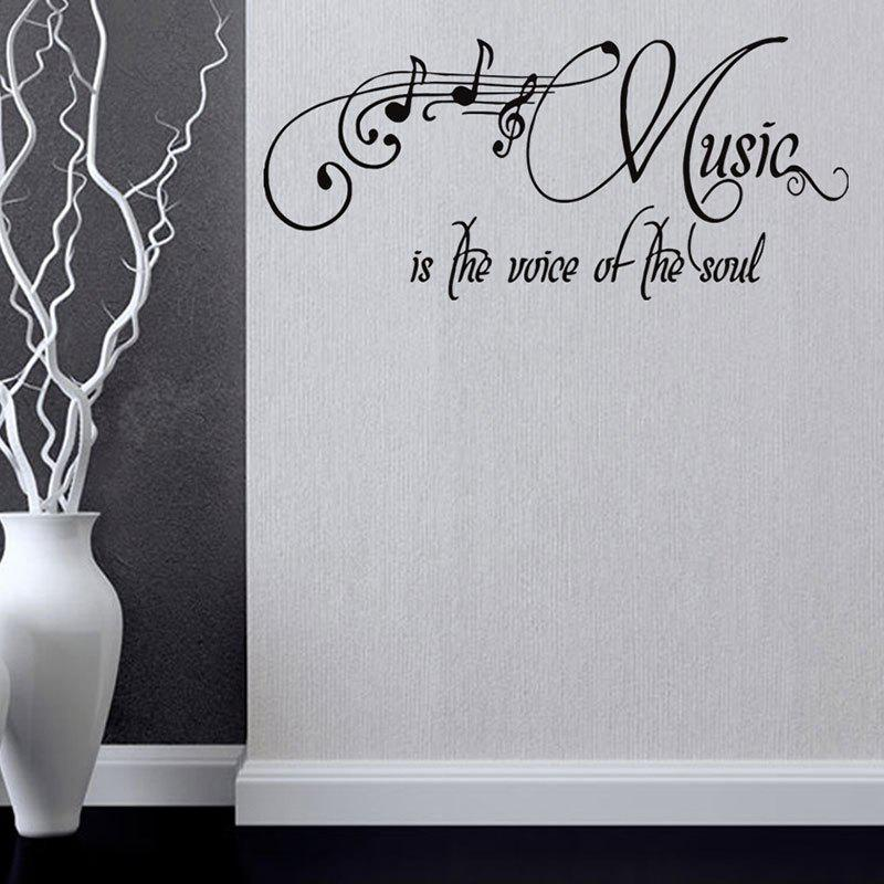 Music Is The Voice of The Soul Wall Sticker радиолампа voice of the nobility psvane uk300b l 300b