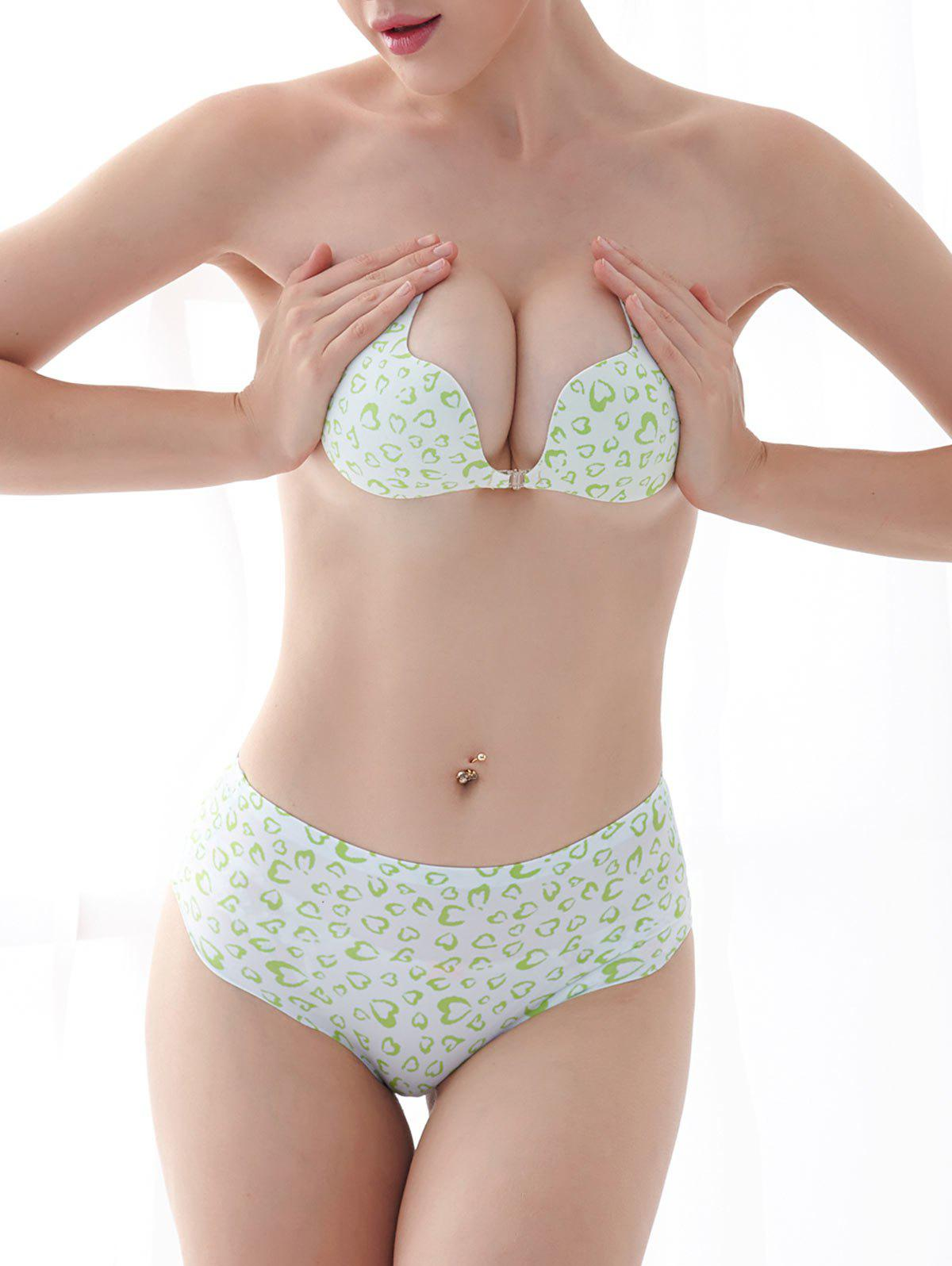 Pasties Strapless Sticky Bra - GREEN CUP D