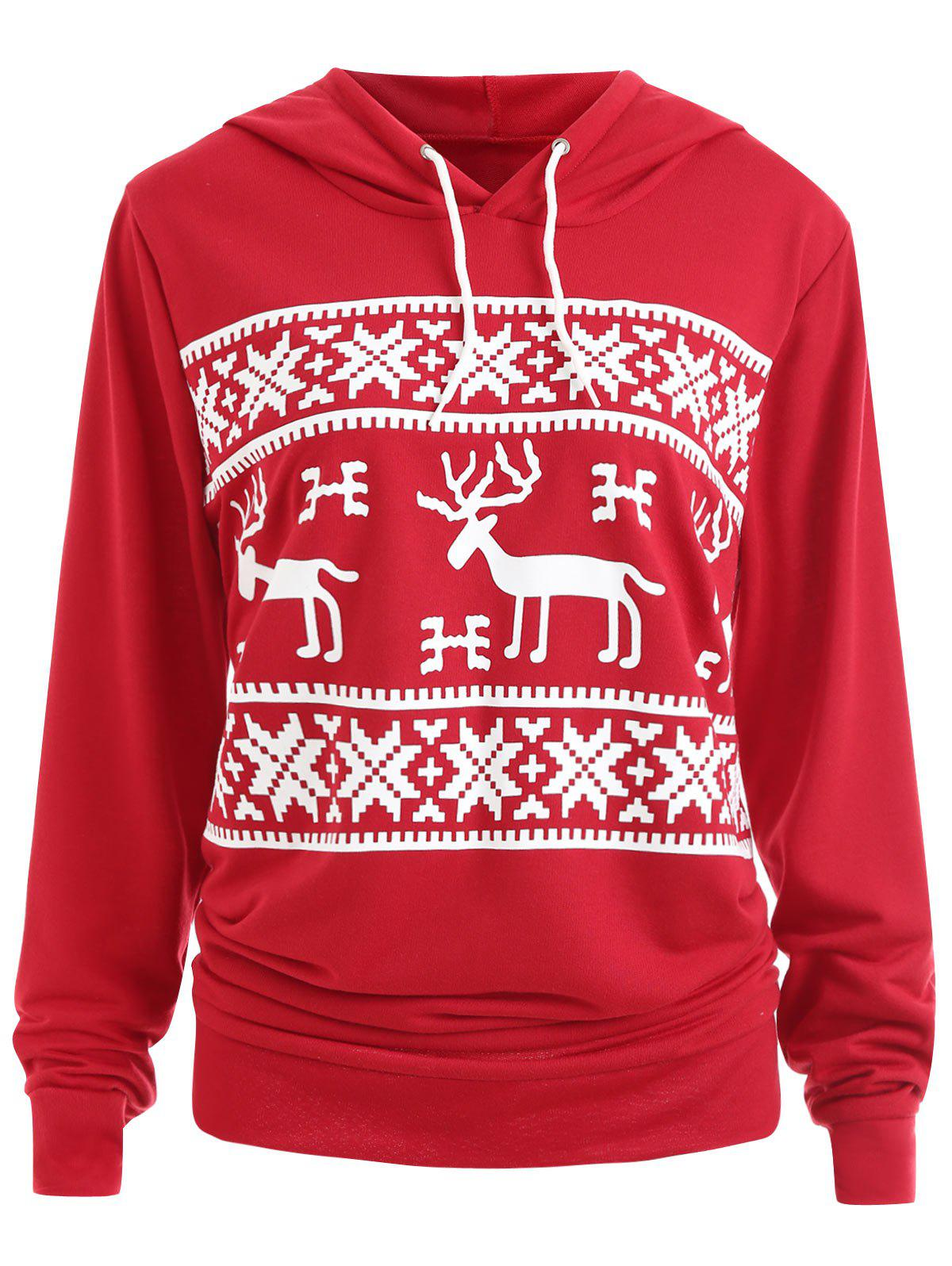 Plus Size Christmas ELK Hoodie with Pocket plus size plain drop shoulder hoodie with pocket