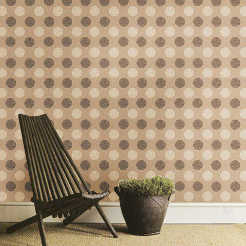 Home Decorative Background Round Spot Printed Wall Stickers - BROWN 45*100CM