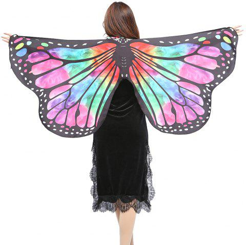 Elegant Butterfly Shape Chiffon Long Shawl Scarf - RED/GREEN
