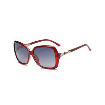 Anti-fatigue Rhinestone Inlay Oversized Driver Sunglasses - RED RED