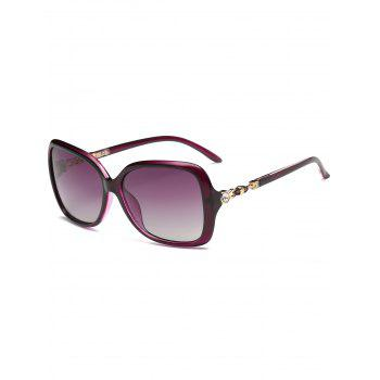 Anti-fatigue Rhinestone Inlay Oversized Driver Sunglasses - PURPLE PURPLE