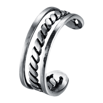 Cool Alloy Cuff Ring -  SILVER