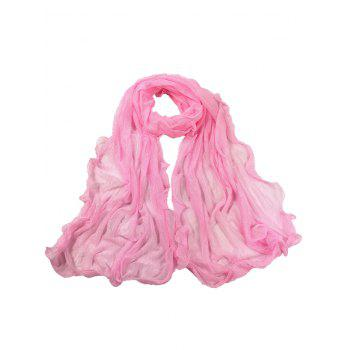 Soft Wrinkle Shimmer Long Shawl Scarf - PINK PINK