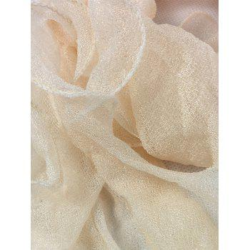 Soft Wrinkle Shimmer Long Shawl Scarf - BEIGE