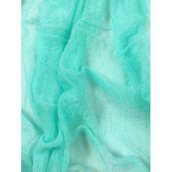 Soft Wrinkle Shimmer Long Shawl Scarf -  LIGHT BLUE