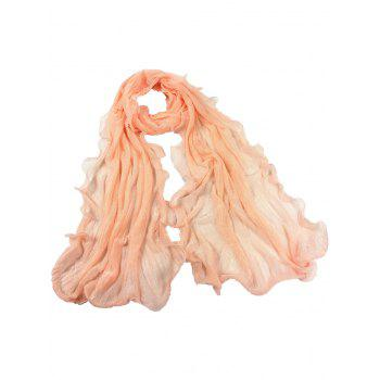 Soft Wrinkle Shimmer Long Shawl Scarf - MELON YELLOW MELON YELLOW