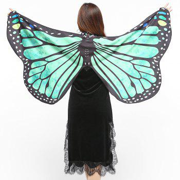 Elegant Butterfly Shape Chiffon Long Shawl Scarf - GREEN