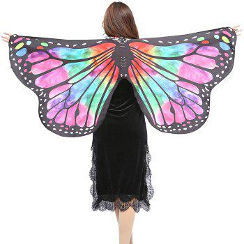 Elegant Butterfly Shape Chiffon Long Shawl Scarf - RED AND GREEN RED/GREEN