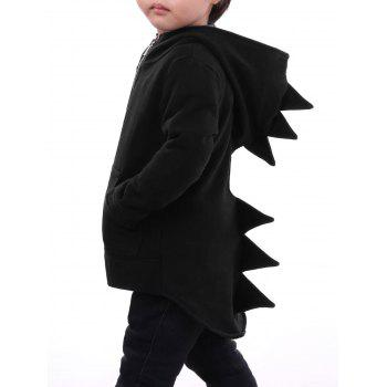 High Low Hem Kids Zip Dinosaur Hoodie