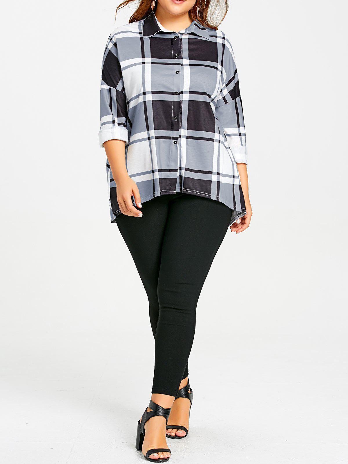 Plus Size High Low Plaid Blouse alfani new black women s size small s mesh back high low ribbed blouse $59 259