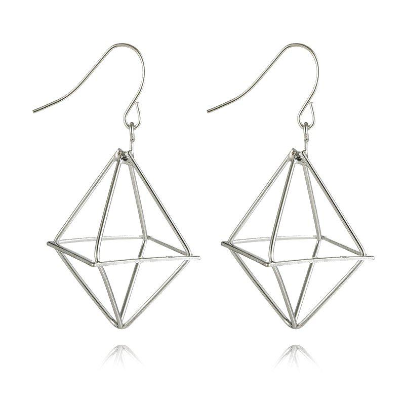 Geometric Shape Metal Drop Earrings metal hand design drop earrings