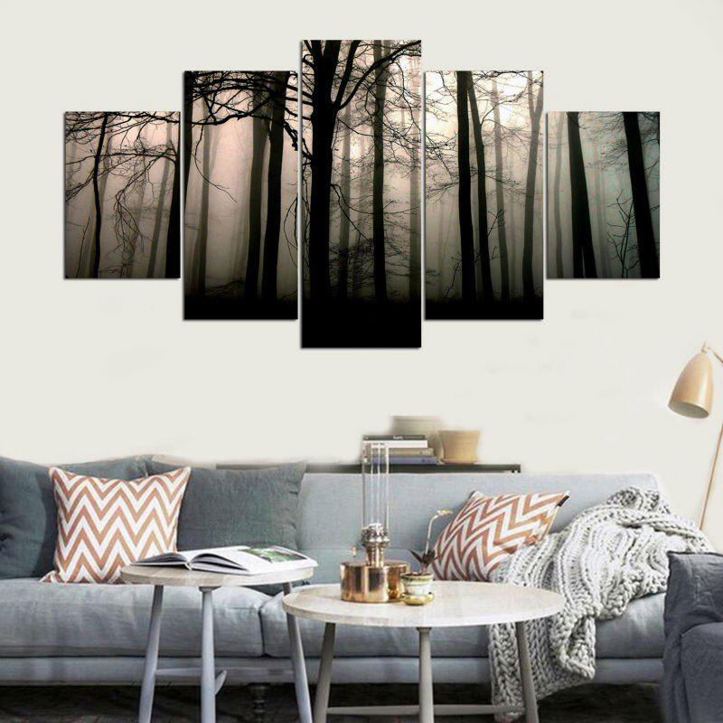 Forest Mist Pattern Wall Art Decor Canvas Paintings wall art mechanical motor pattern canvas paintings