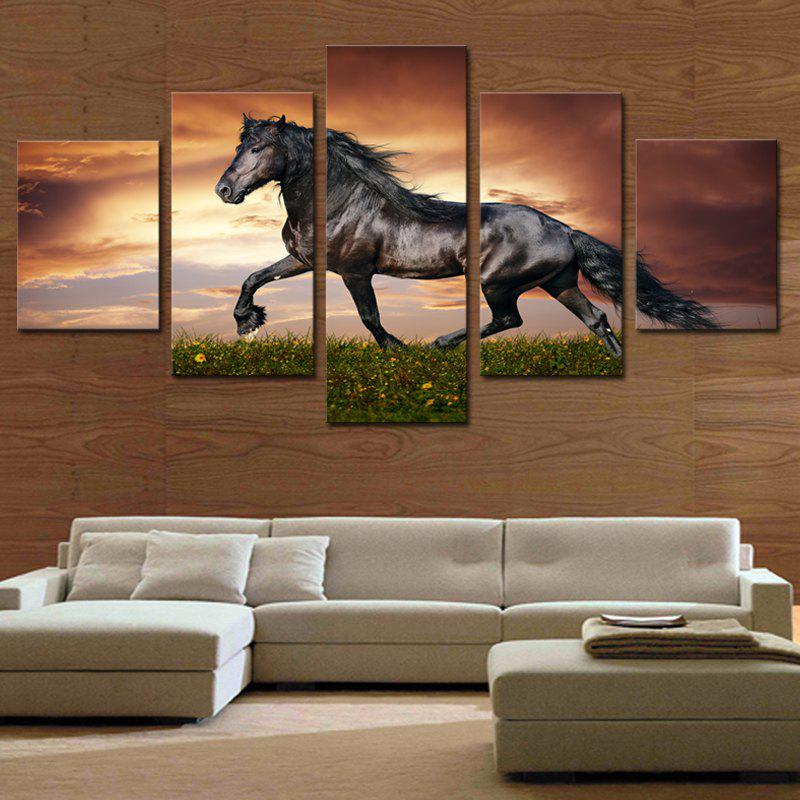 Running Horse Printed Unframed Canvas Paintings burning guitar pattern unframed wall art canvas paintings