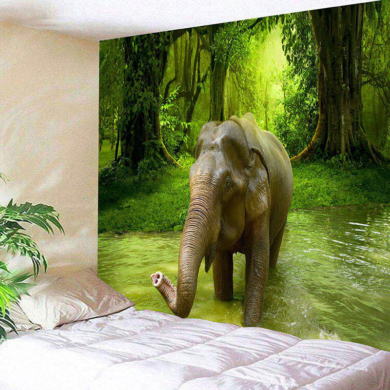 Wall Hanging 3D Forest Elephant Printed Tapestry forest elephant wall hanging animal tapestry