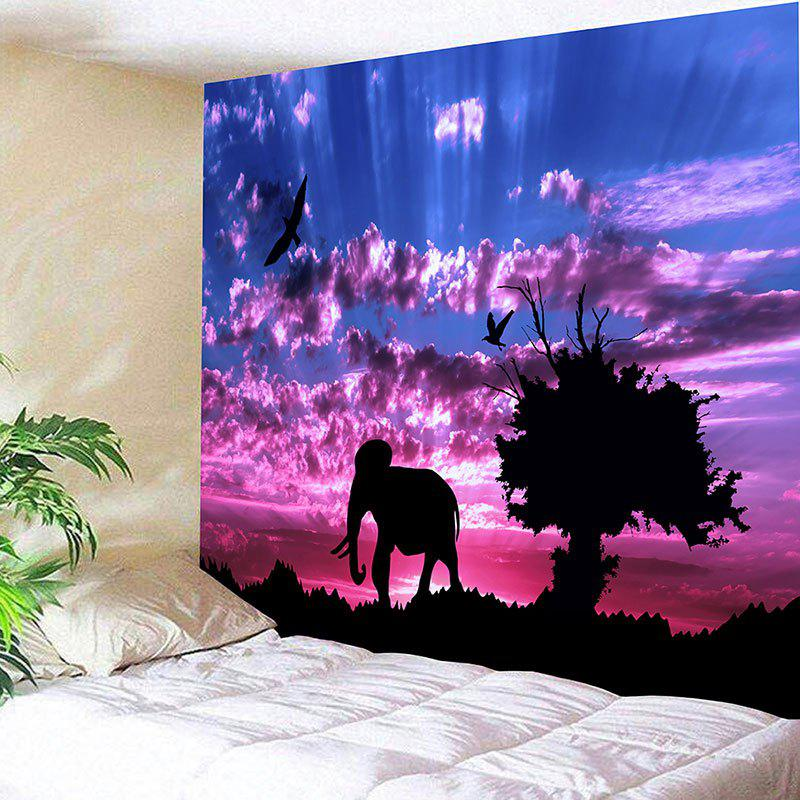 Landscape Wall Hanging Tree and Elephant Print Tapestry linux® rapid application development