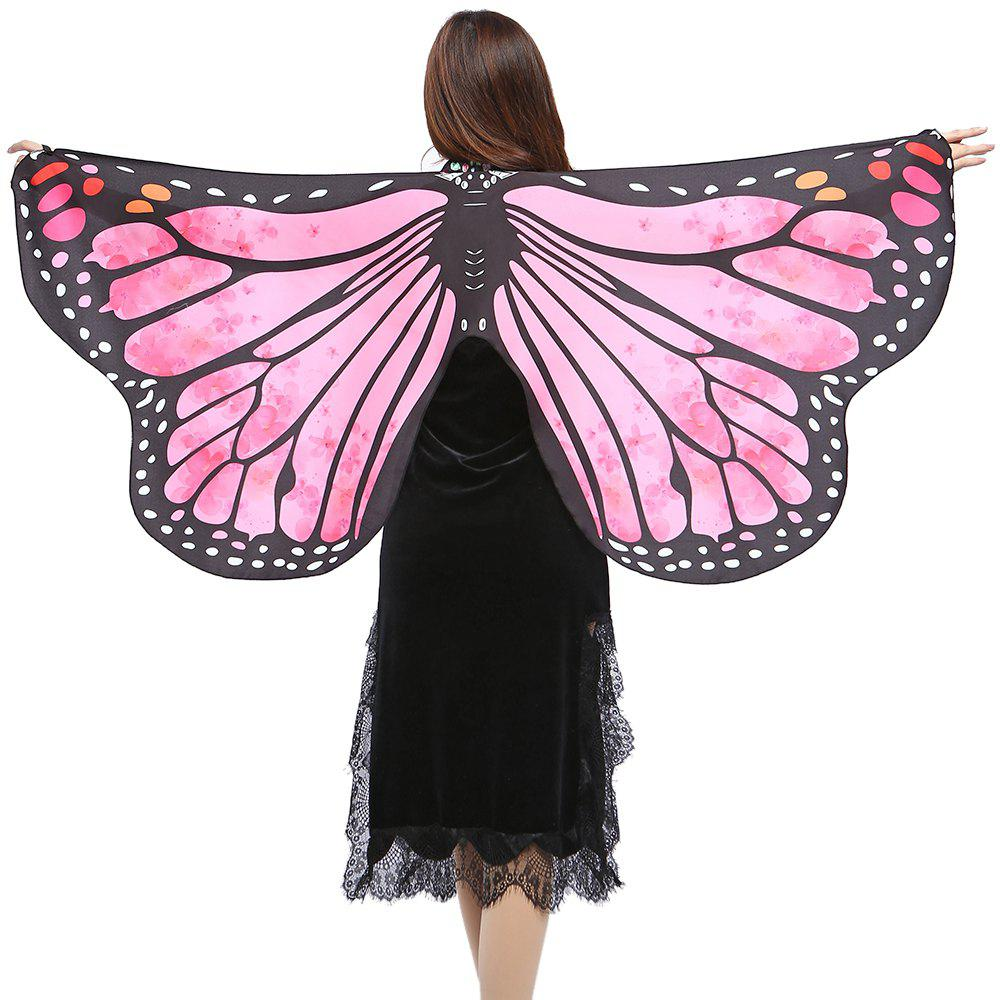 Elegant Butterfly Shape Chiffon Long Shawl Scarf - LIGHT ROSE