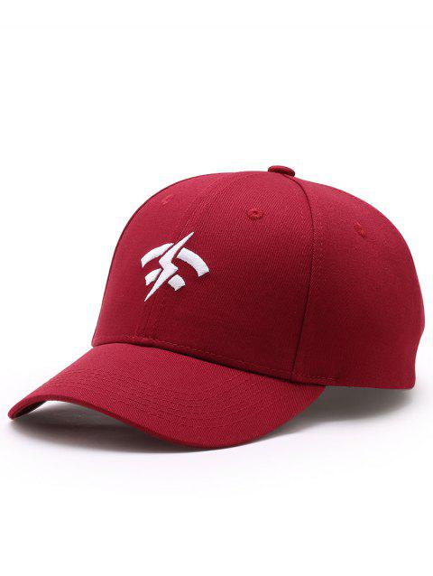 Outdoor Lightning Wifi Pattern Flat Graphic Hat - WINE RED