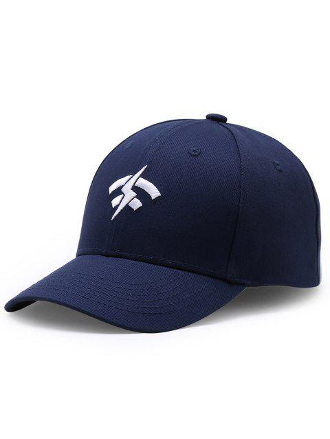 Outdoor Lightning Wifi Pattern Flat Graphic Hat - CERULEAN