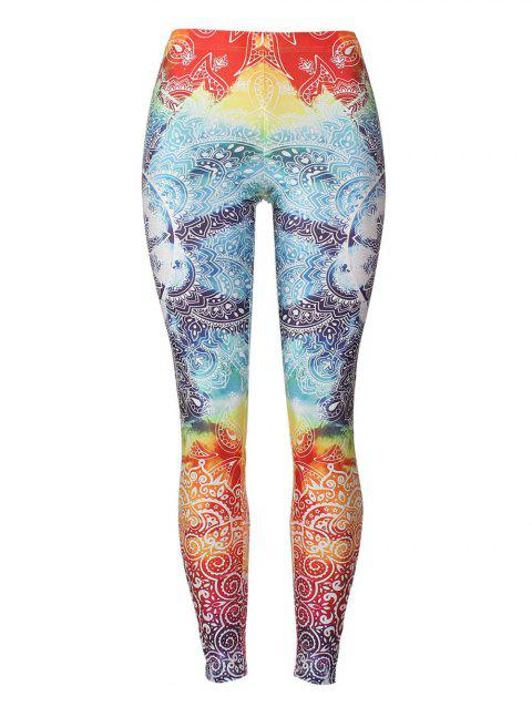 Print Fitted Bohemian Leggings - COLORMIX S