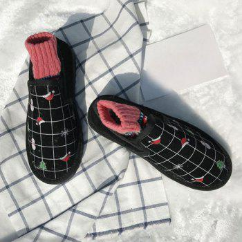 Trees Snowman Hats Print Snow Boots - BLACK 38