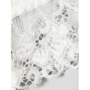 Lace See Thru Bralette Top - WHITE WHITE