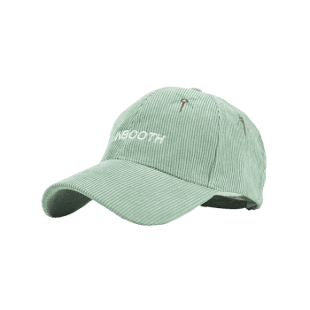 Letter and Coconut Tree Embroidery Adjustable Corduroy Baseball Hat - MINT