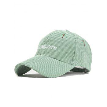 Letter and Coconut Tree Embroidery Adjustable Corduroy Baseball Hat - MINT MINT